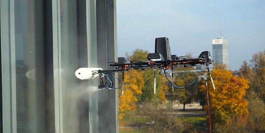 Aerones, cleaning windows drone