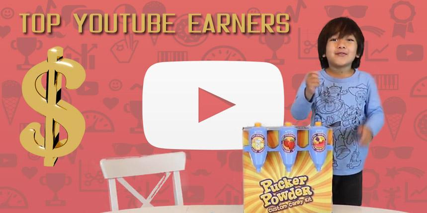 Ryan Top youtube earners 2018