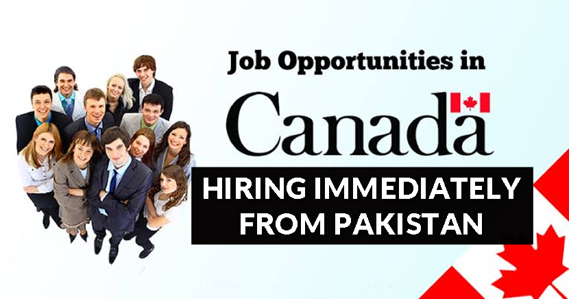 Hiring Immediately in Canada from Pakistan