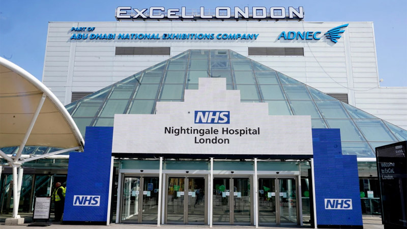 New coronavirus hospital as Army transforms London's ExCel centre into NHS Nightingale