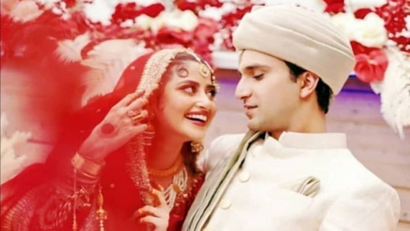Sajal Ali, Ahad Raza Mir's family wedding pictures win hearts