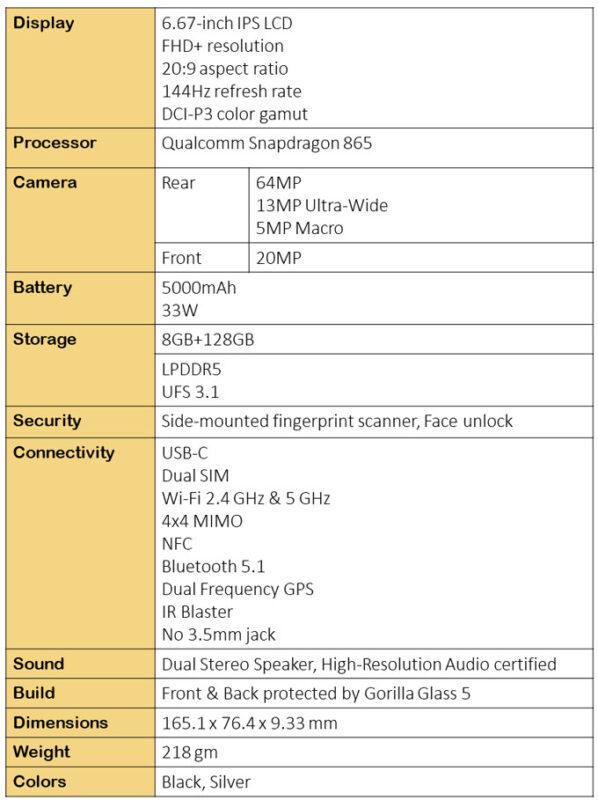 Xiaomi Mi 10T specifications