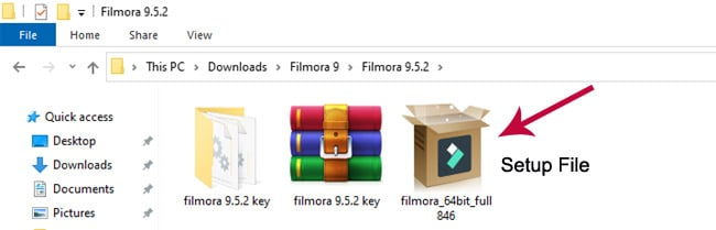 You will find 2 files when you unzip the downloaded file.
