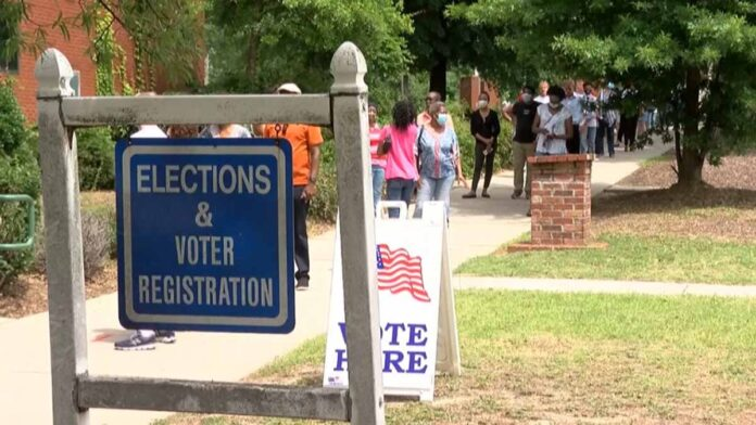 More than 100 top corporate leaders meet to discuss state voting laws